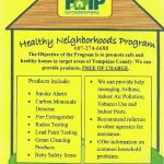 Healthy Neighborhoods Program  607-274-6688