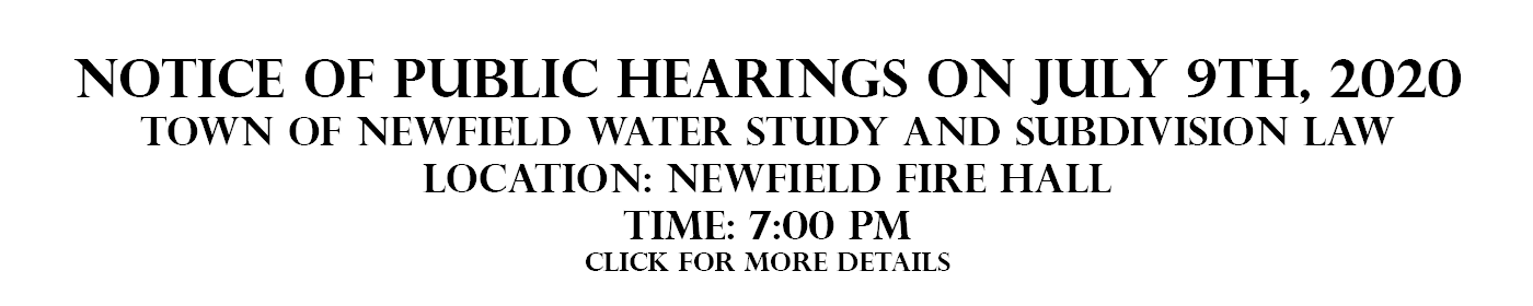 Public Hearing Notice - July 9, 2020