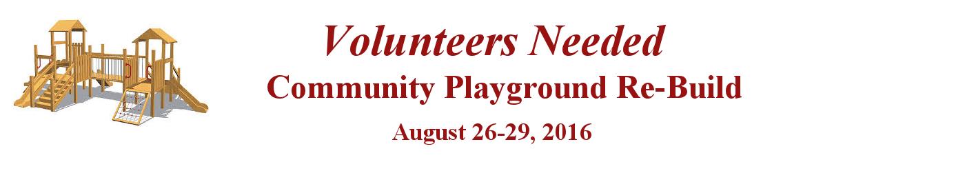 Community Playground Re-Build